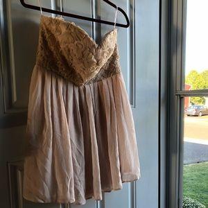 Elise Ryan Blush Mini Dress